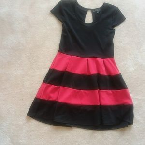 Black and Red Strped Dress